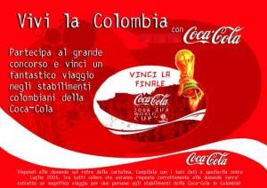 Cartolina Vivi la Colombia con Coca-Cola