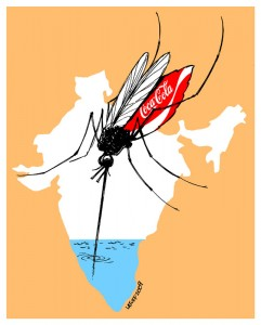 Coca-Cola in India by Latuff (http://latuff2.deviantart.com)
